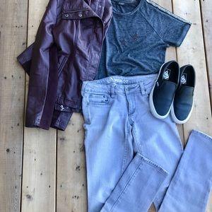 Bullhead, Venice Style, Grey Straight Leg Jean